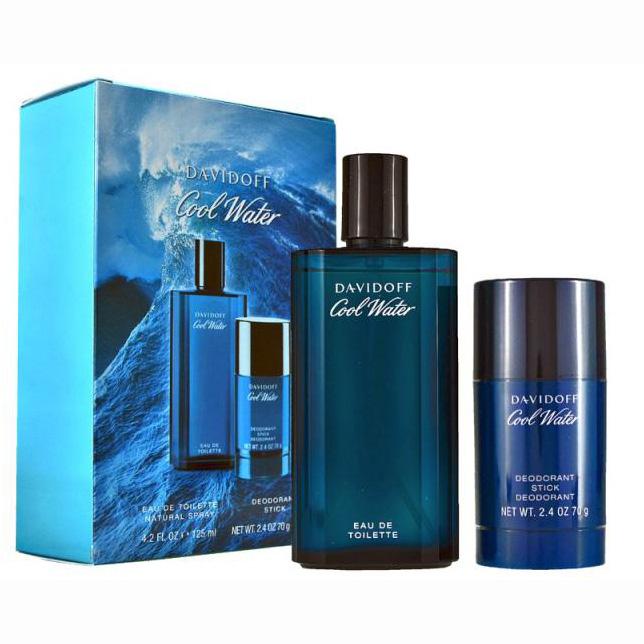 Set Davidoff, Cool Water, Barbati: Apa de Toaleta, 125 ml + Deodorant Stick, 75 ml