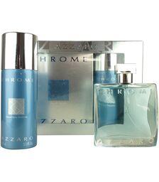 Set Azzaro Chrome, Barbati: Apa de Toaleta, 100ml + Deodorant spray, 150ml